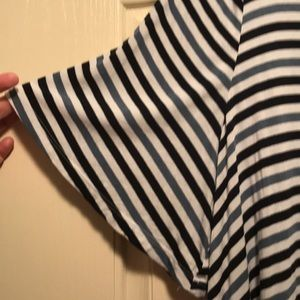 Lane Bryant Tops - Blue striped Lane Bryant shirt